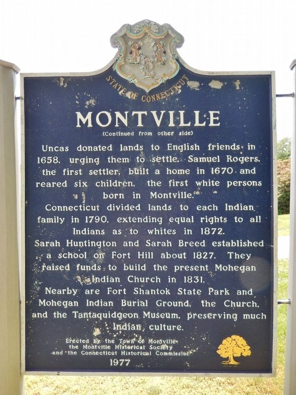 Montville Marker (<i>side 2</i>) image. Click for full size.