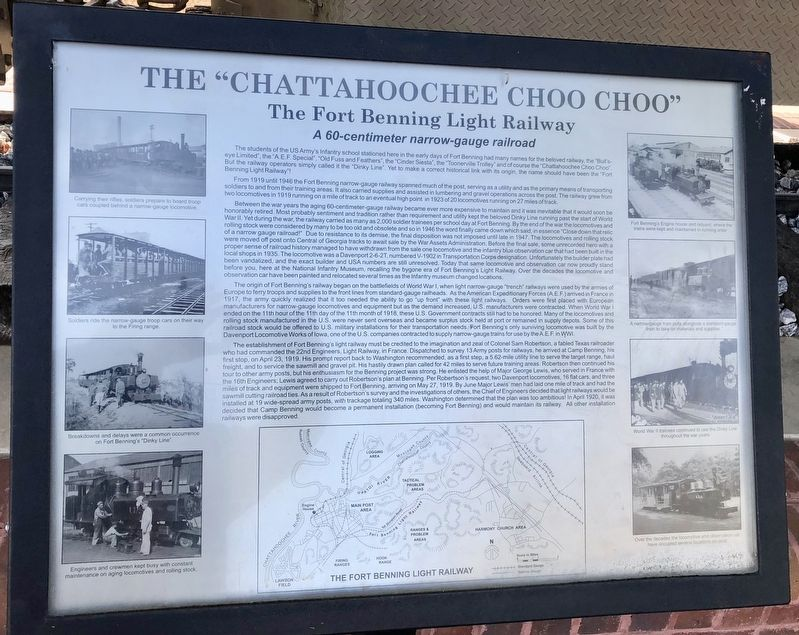 "The ""Chattahoochee Choo Choo"" Marker image. Click for full size."