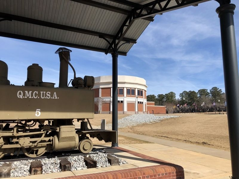 "View from the ""Chattahoochee Choo Choo"" towards the National Infantry Museum. image. Click for full size."