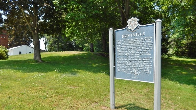 Montville Marker (<i>side 1; wide view</i>) image. Click for full size.