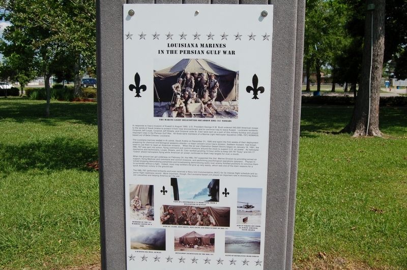 Louisiana Marines in the Persian Gulf War Marker image. Click for full size.