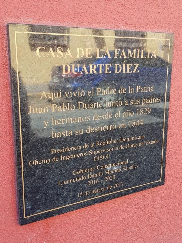 House of the Duarte y Díez Family Marker image. Click for full size.