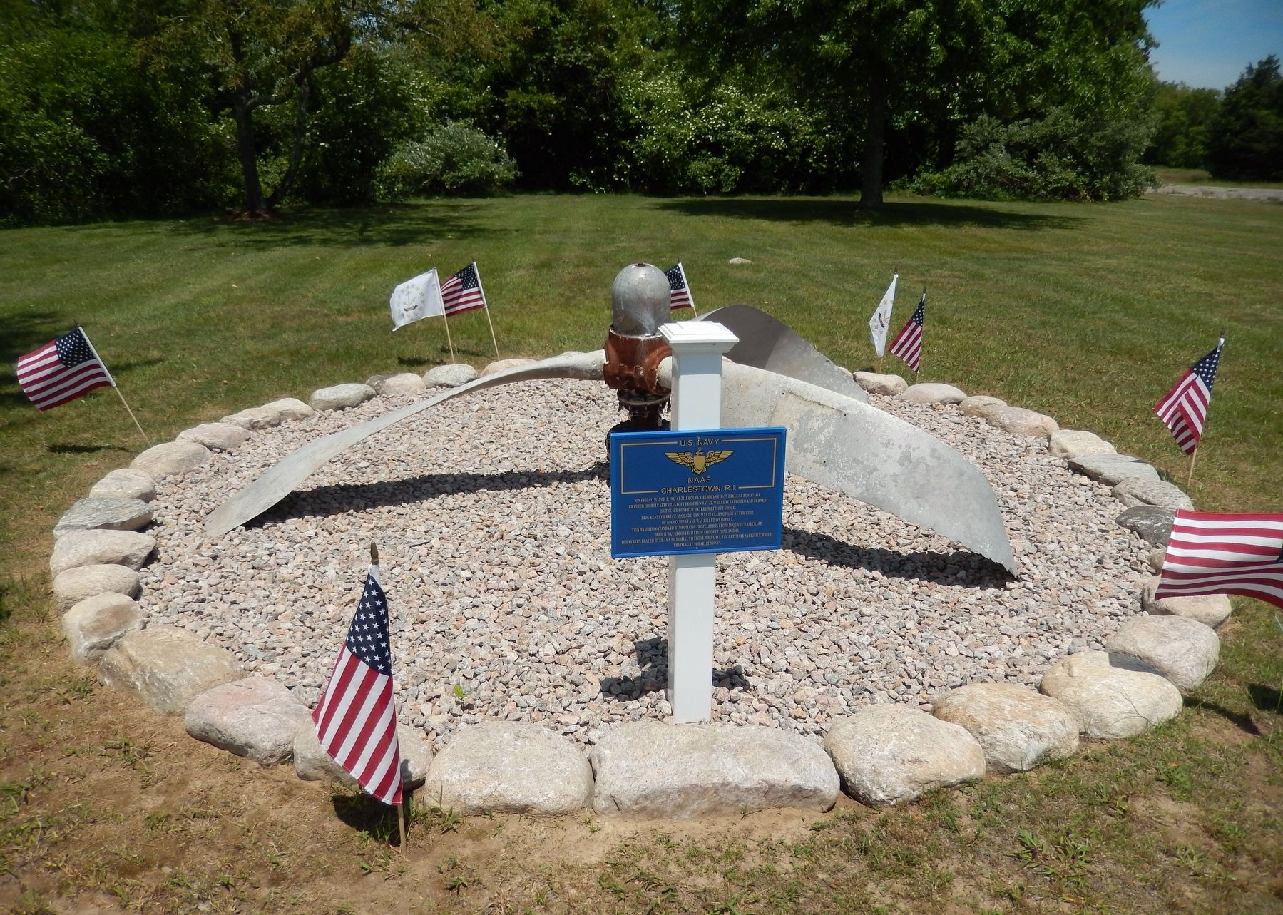 Grumman F6F-5N Hellcat Crash Marker (<i>wide view</i>) image. Click for full size.