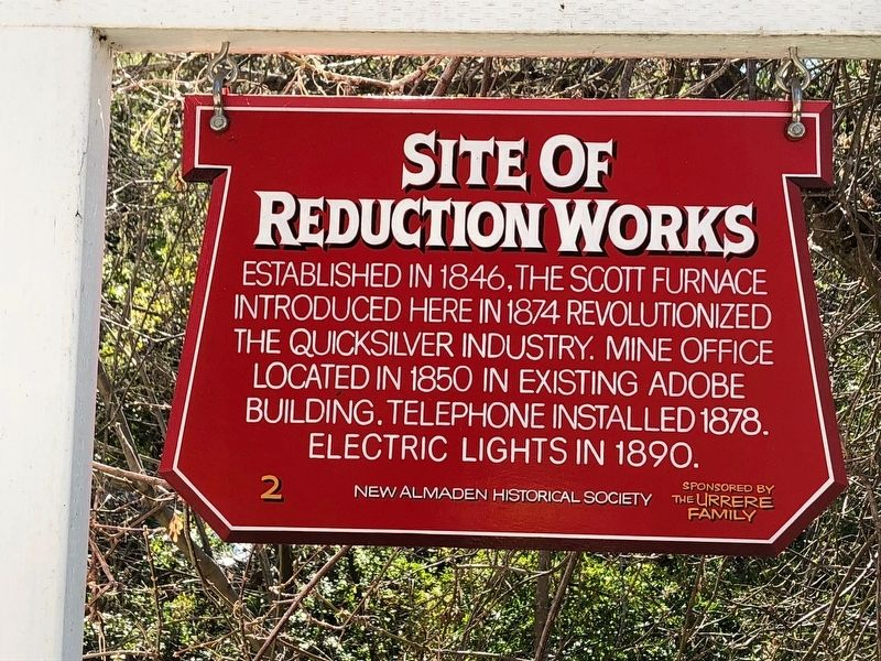 Site of Reduction Works Marker image. Click for full size.