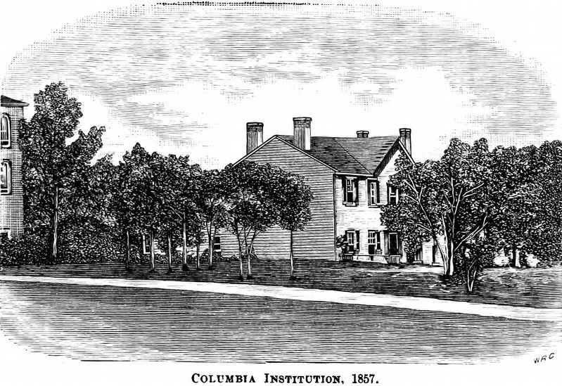 Columbia Institution, 1857 image. Click for full size.