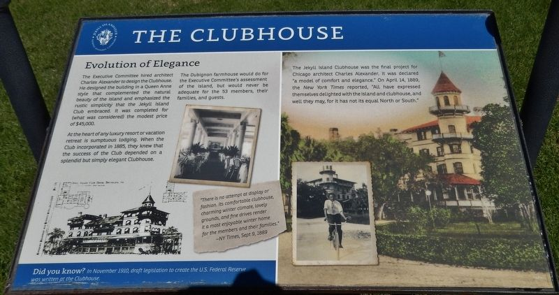 The Clubhouse Marker image. Click for full size.