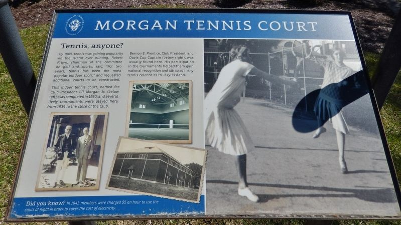 Morgan Tennis Court Marker image. Click for full size.