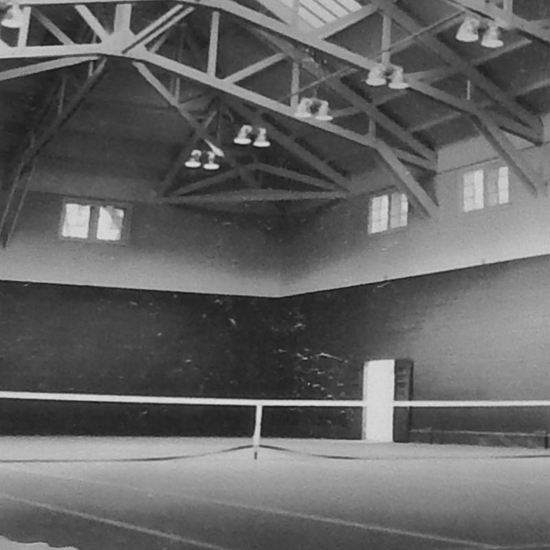 Marker detail: tennis court interior image. Click for full size.