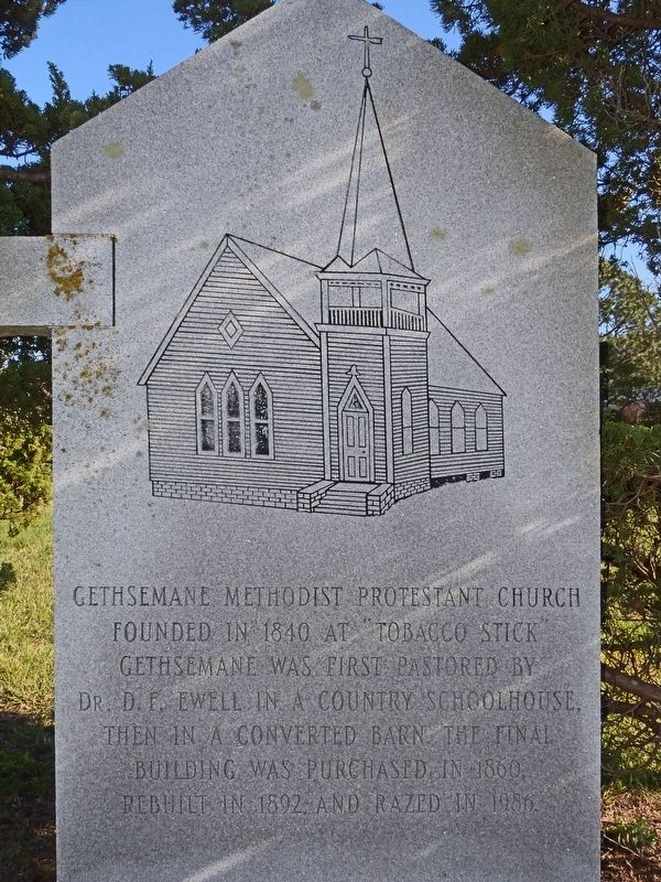Gethsemane Methodist Protestant Church Marker image. Click for full size.