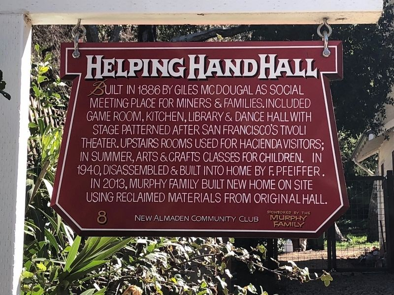 Helping Hand Hall Marker image. Click for full size.