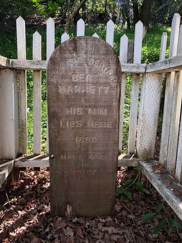 "Burial Site of ""Bert"" Barrett's Arm image. Click for full size."