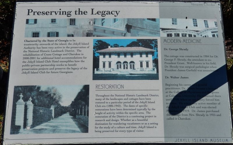 Preserving the Legacy Marker image. Click for full size.