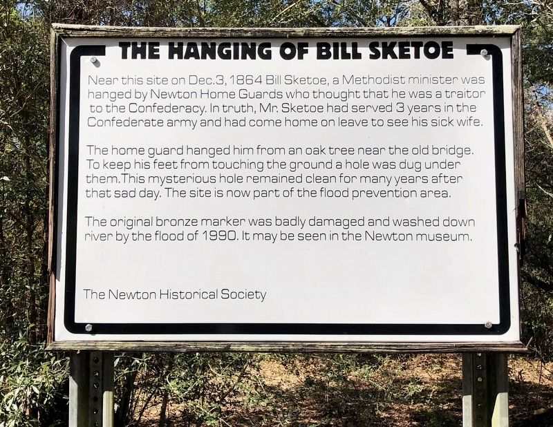 The Hanging of Bill Sketoe Marker image. Click for full size.