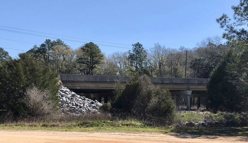 Not the original bridge from 1864, but the rock area is where the original marker was located. image. Click for full size.