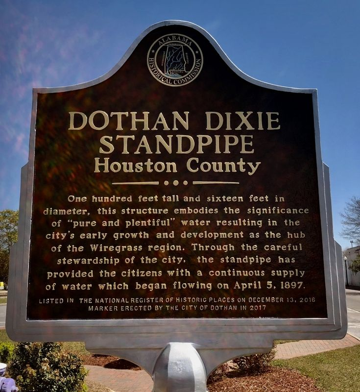 Dothan Dixie Standpipe Marker image. Click for full size.