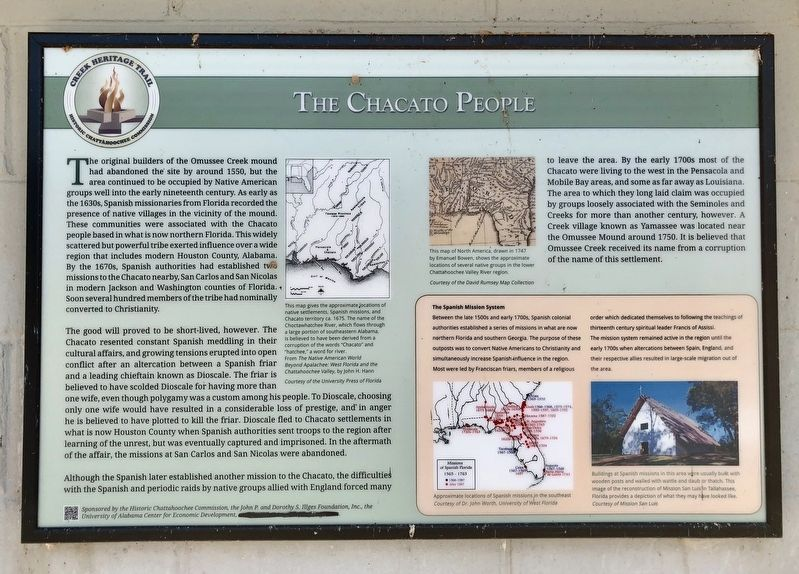 The Chacato People Marker image. Click for full size.