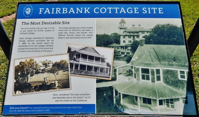 Fairbank Cottage Site Marker image. Click for full size.
