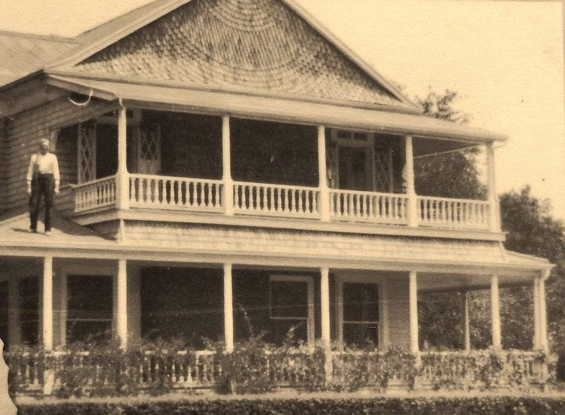 Marker detail: Fairbank Cottage front porch image. Click for full size.