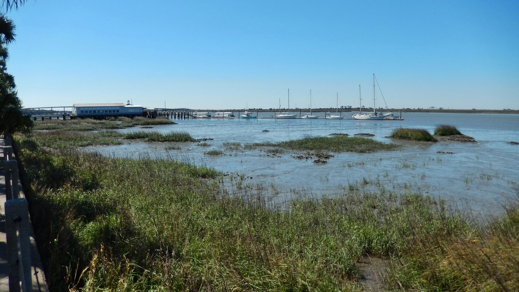 Jekyll Wharf & Jekyll Creek (<i>view south from near marker</i>) image. Click for full size.