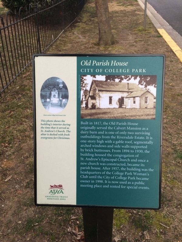 Old Parish House Marker image. Click for full size.