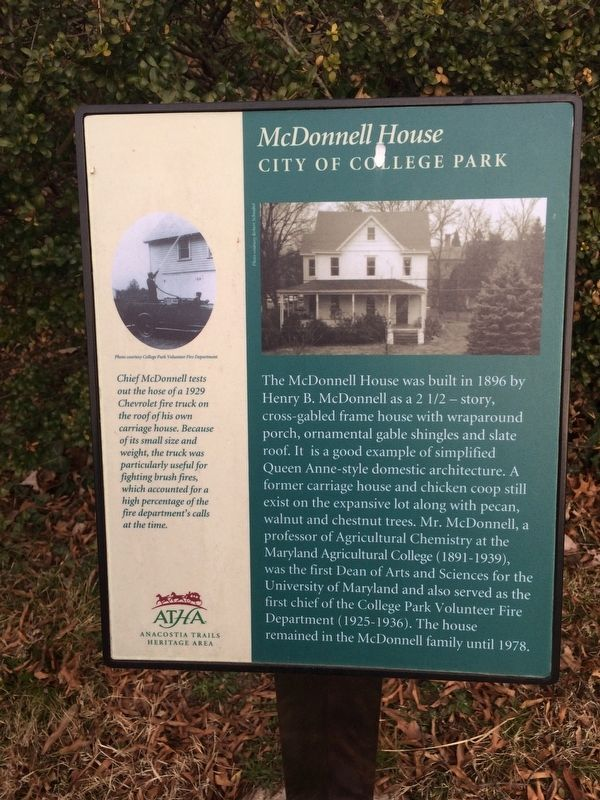McDonnell House Marker image. Click for full size.