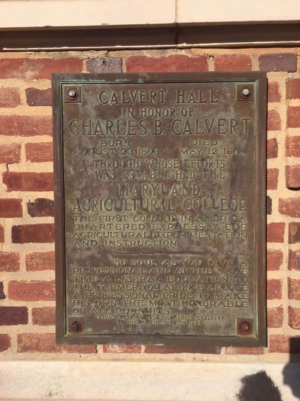 Calvert Hall Marker image. Click for full size.