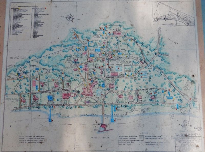Marker detail: Jekyll Island map, circa 1960's image, Touch for more information