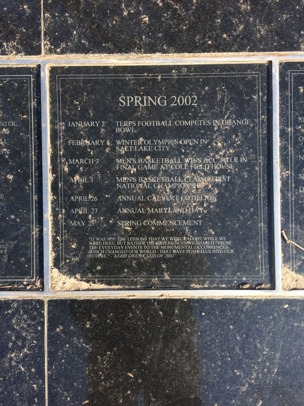 Class of 2002 Marker, Spring 2002 Plaque image. Click for full size.