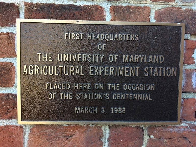 Agricultural Experiment Station Marker image. Click for full size.