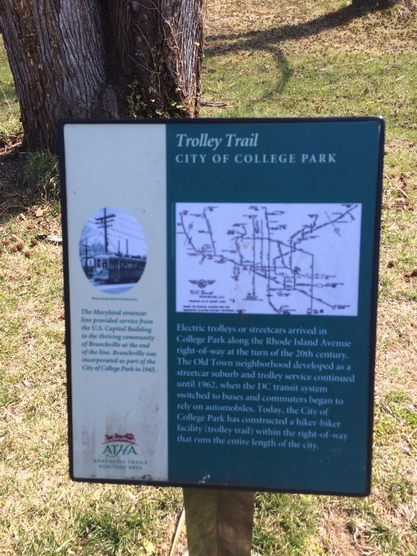 Trolley Trail Marker image. Click for full size.