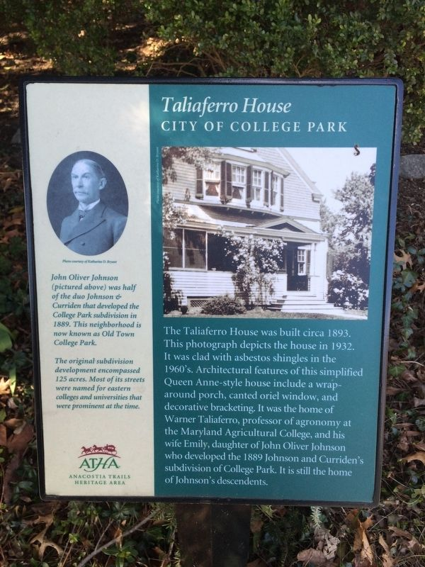 Taliaferro House Marker image. Click for full size.