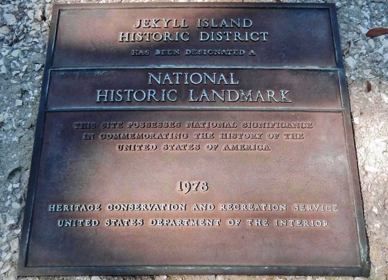 Jekyll Island Historic District, National Historic Landmark Plaque, 1978 image. Click for full size.