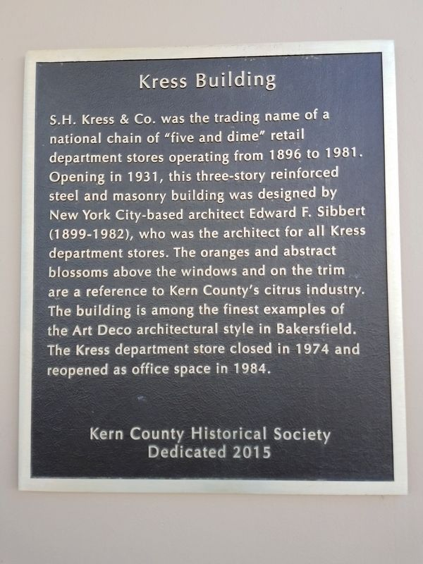 Kress Building Marker image. Click for full size.