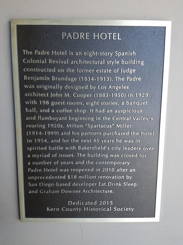 Padre Hotel Marker image. Click for full size.