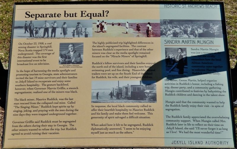 Separate But Equal? Marker image. Click for full size.