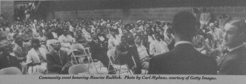 Marker detail: Community Event Honoring Maurice Ruddick image. Click for full size.
