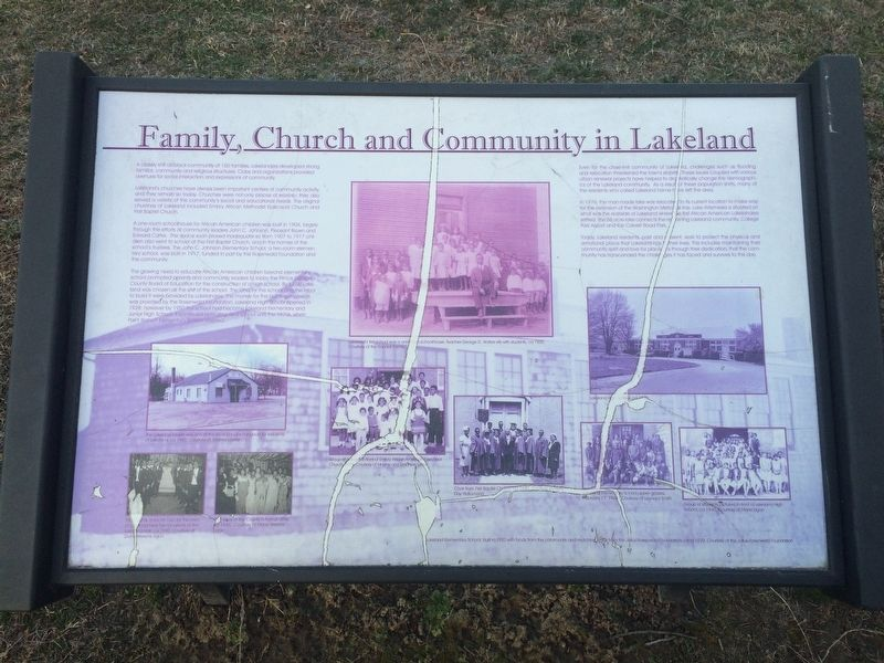 Family, Church and Community in Lakeland Marker image. Click for full size.