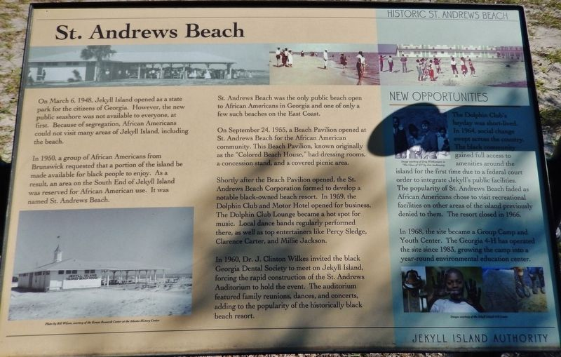 St. Andrews Beach Marker image. Click for full size.