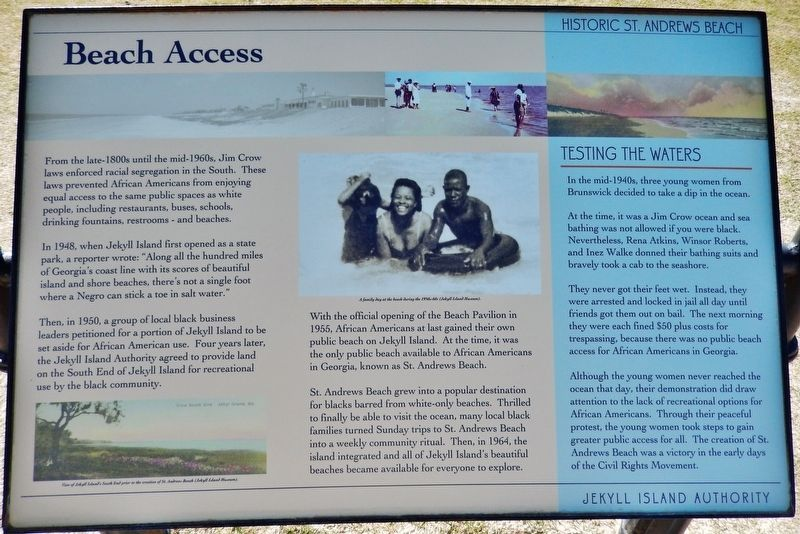 Beach Access Marker image. Click for full size.