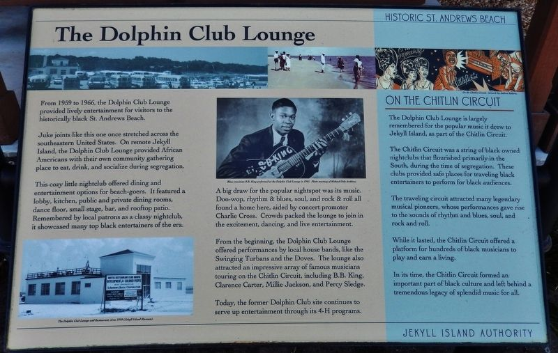 The Dolphin Club Lounge Marker image. Click for full size.