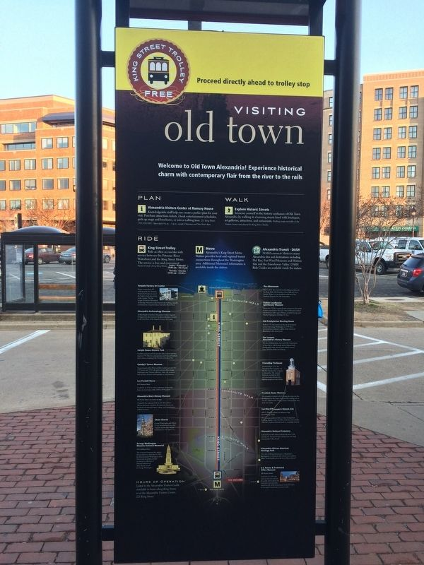 Visiting Old Town Marker image. Click for full size.
