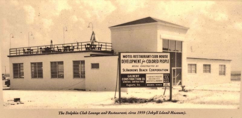 Marker photo detail: Dolphin Club Lounge and Restaurant, circa 1959 image. Click for full size.
