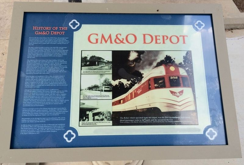 GM&O Depot Marker image. Click for full size.
