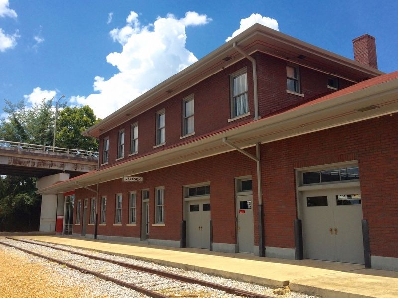 The former train depot image. Click for full size.