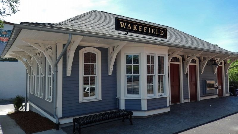 Former Wakefield Railroad Depot (<i>across Main Street from Griffin&#39;s original land purchase</i>) image. Click for full size.