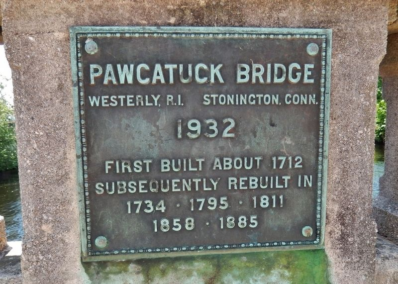 Pawcatuck Bridge Marker image. Click for full size.
