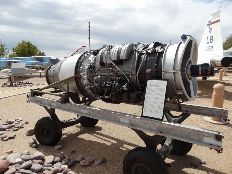 Wright J65 Turbojet Engine and Marker image. Click for full size.