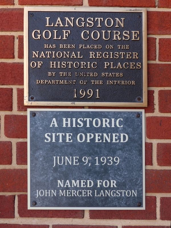 Langston Golf Course Marker image. Click for full size.