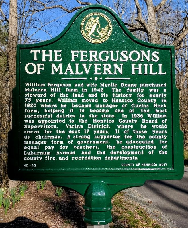 The Fergusons of Malvern Hill Marker image. Click for full size.