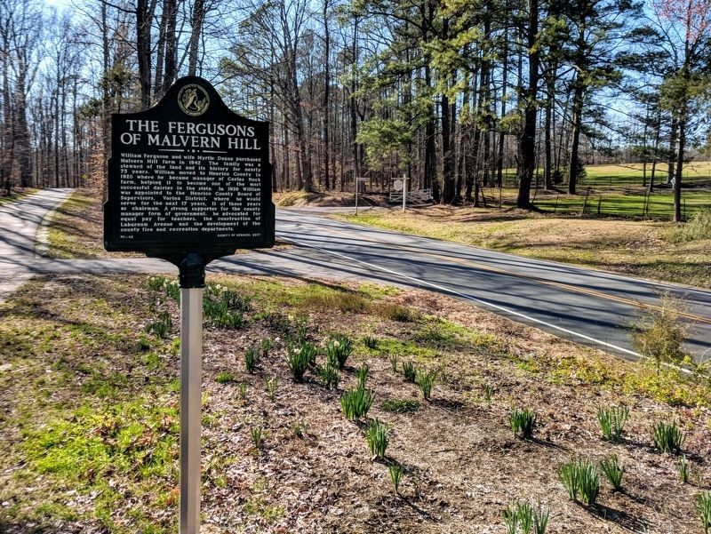 The Fergusons of Malvern Hill Marker (facing west) image. Click for full size.